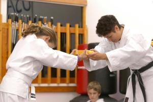 Child earns yellow belt
